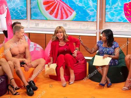 Ranvir Singh, Kate Garraway and Love Island contestant Charlie Frederick