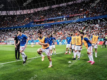 Sardar Azmoun (Iran) and Ehsan Hajsafi (Iran) Warm-Up, Portugal v Iran, Mordowia Arena, Saransk
