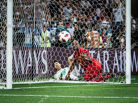 Goalkeeper Eiji Kawashima (Japan) - Romelu Lukaku (Belgien) during the 2018 FIFA World Cup round of 16 match between Belgium and Japan in Rostov-on-Don, Russia, July 2, 2018. Belgium won 3-2 and advanced to the quarter-final.