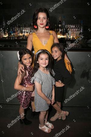 Stock Picture of Lara Alpay (Little Amal), Rachel Redford (Beth), Alyssa D'Souza (Little Amal) and Erin Rushidi (Little Amal)