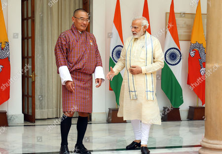 Narendra Modi and Dasho Tshering Tobgay