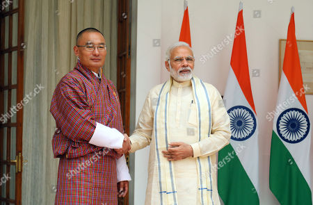 Editorial photo of Bhutanese Prime Minister Dasho Tshering Tobgay visits India, New Delhi - 06 Jul 2018