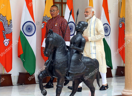 Stock Photo of Narendra Modi and Dasho Tshering Tobgay