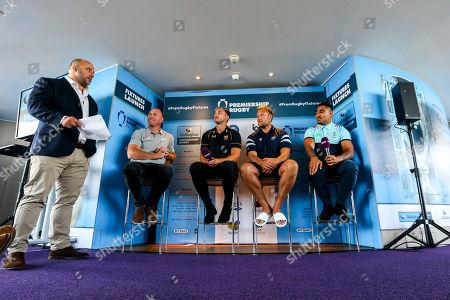 David Flatman hosts the launch of the 2018/19 Gallagher Premiership Rugby Season Fixtures with Schalk Burger of Saracens, Josh Bassett of Wasps, Jordan Crane of Bristol Bears and Francis Saili of Harlequins