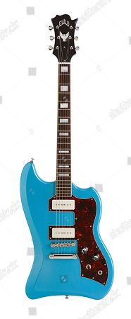 A Guild T-bird St P90 Electric Guitar With A Pelham Blue Finish