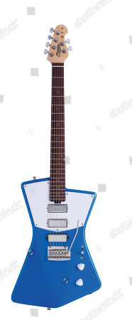 A Sterling By Music Man St Vincent Stv60 Electric Guitar With A Vincent Blue Finish