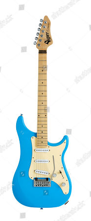A Vigier Expert Classic Rock Electric Guitar With An Normandie Blue Finish