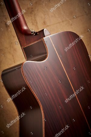 Detail Of The Rosewood Back On A Yamaha A3r Are Electro-acoustic Guitar