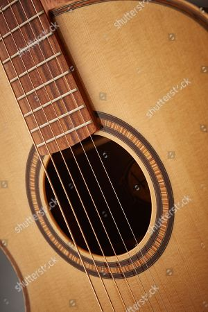Detail Of The Sound Hole On An Andrew White Cybele 1010 Electro-acoustic Guitar