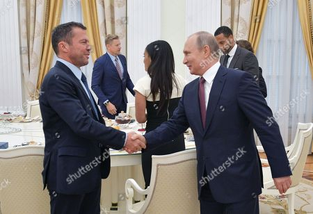 Vladimir Putin and Lothar Matthaus