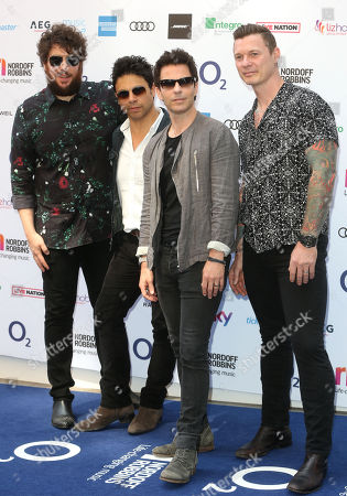 Jamie Morrison, Adam Zindani, Kelly Jones and Richard Jones of Stereophonics attends the Nordoff Robbins O2 Silver Clef Awards at the Grosvenor House Hotel, London.