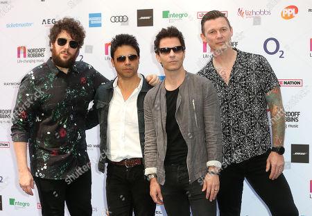 Stereophonics, Kelly Jones, Richard Jones, Adam Zindani and Jamie Morrison attend the Nordoff Robbins O2 Silver Clef Awards at the Grosvenor House Hotel, London.