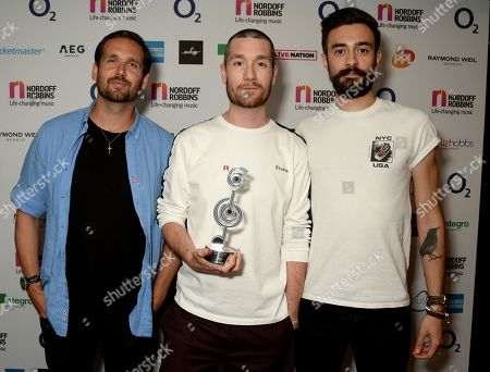 Will Farquarson, Dan Smith and Kyle Simmons of Bastille - Sky Best Group Award