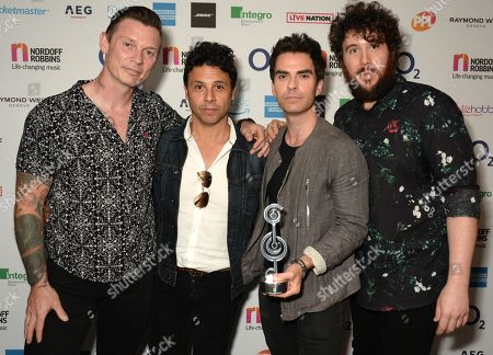 Richard Jones, Adam Zindani, Kelly Jones and Jamie Morrison of Stereophonics - American Express Icon Award