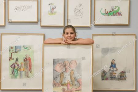 Editorial photo of 'Quentin Blake: A Retrospective' auction photocall, Christie's, London, UK - 06 Jul 2018