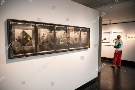 Stock Photo of A general view of the exhibition 'The Polaroid Project' at the C/O gallery in Berlin, Germany, 06 July 2018. 'The Polaroid Project' is on display at the exhibition that was put together by several curators, Deborah G. Douglas, William A. Ewing, Barbara P. Hitchcock, Rebekka Reuter, and Gary Van Zante with the support of the Land Fund, and adapted for the presentation at C/O Berlin by Ann-Christin Bertrand. A collection of Polaroid art pieces made with instant cameras by Nobuyoshi Araki, Sibylle Bergemann, Chuck Close, Guy Bourdin, Barbara Crane, David Hockney, Robert Mapplethorpe, Robert Rauschenberg, Erwin Wurm and more will be on display from 07 July to 23 September 2018.