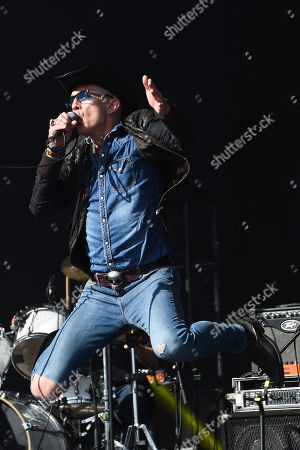 Rob Spragg of Alabama 3 performs on the main stage on day 4 of the TRNSMT Festival