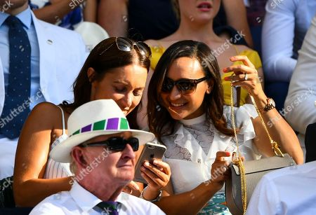 Dame Jessica Ennis and Lorna Parkin in the Royal Box