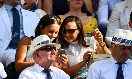 Dame Jessica Ennis-Hill and Lorna Parkin in the Royal Box