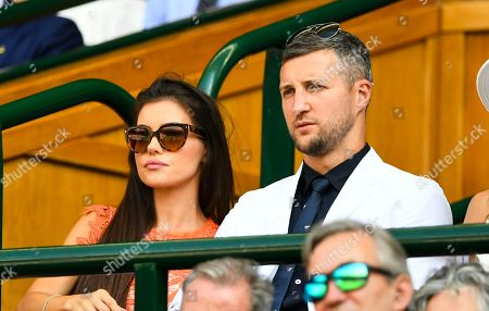 Carl Froch Rachael Cordinley in the Royal Box
