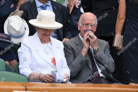 Bobby Charlton and Norma Charlton in the Royal Box