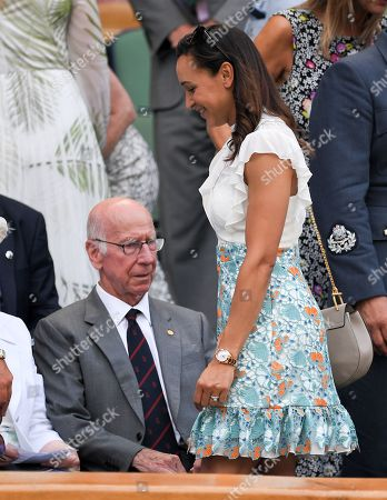 Bobby Charlton and Jessica Ennis in the Royal Box