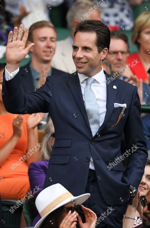 Mark Beaumont in the Royal Box