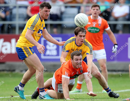 Roscommon vs Armagh. Roscommon's David Murray and Brendan Donaghy of Armagh