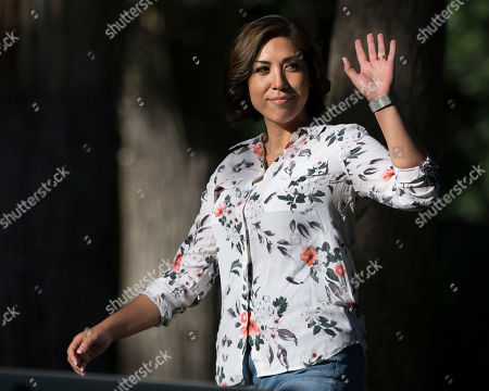 Democratic gubernatorial candidate Paulette Jordan waves to the crowd before speaking during the Idaho District 18 Democrats Campaign Kickoff BBQ in Boise, Idaho. Jordan breaks the mold of the typical candidate in Idaho elections. She's the first woman to win the party's nomination for governor of a state that hasn't elected a Democrat to the top seat in almost 30 years. And if she pulls the upset against Lt. Gov. Brad Little in November, Jordan, a member of the Coeur d'Alene Tribe, will be the first Native American governor of a U.S. state
