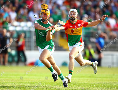 Carlow vs Limerick. Limerick's Tom Morrissey in action against Carlow's Jack Kavanagh