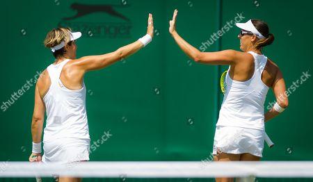 Maria Jose Martinez Sanchez of Spain & Andreja Klepac of Slovenia playing doubles