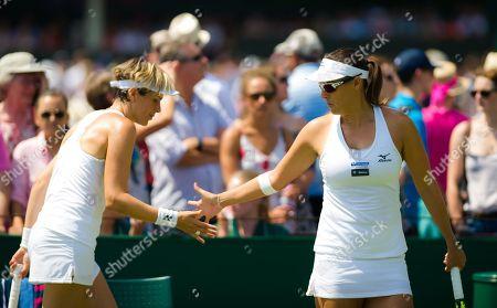 Stock Photo of Maria Jose Martinez Sanchez of Spain & Andreja Klepac of Slovenia playing doubles