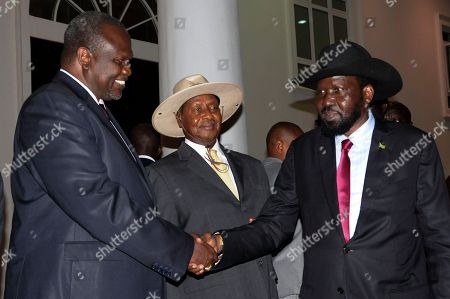 Yoweri Museveni, Salva Kiir and Riek Machar