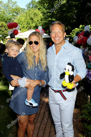 Stock Image of Sarah Siciliano, Chris Wragge with son