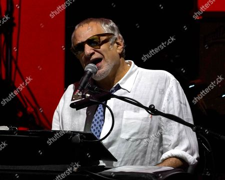 American rock band Steely Dan featuring founder and keyboardist Donald Fagen performs at the Xfinity Center, in Mansfield, Mass