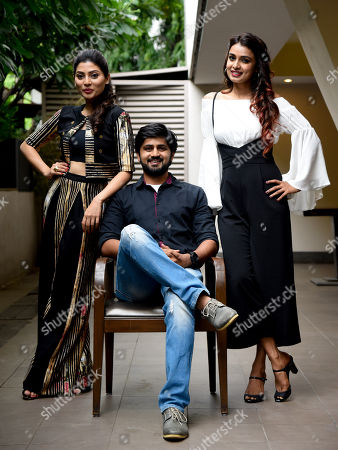 Stock Image of Reena Agarwal, Shashank Ketkar and Mayuri Deshmukh