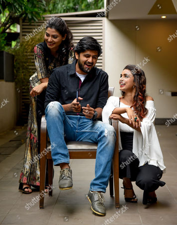 Stock Photo of Reena Agarwal, Shashank Ketkar and Mayuri Deshmukh