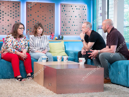 Stock Picture of Joanna Scanlon and Isy Suttie with Tim Lovejoy and Simon Rimmer
