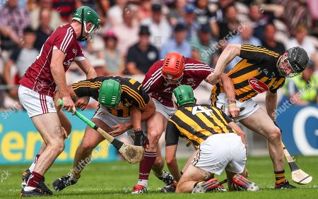 Galway vs Kilkenny. Galway's Cathal Mannion and Conor Whelan with Paul Murphy, Paddy Deegan and Enda Morrissey of Kilkennny