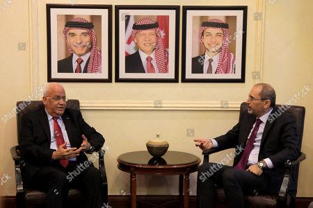 Stock Image of Ayman Al Safadi and Saeb Erekat