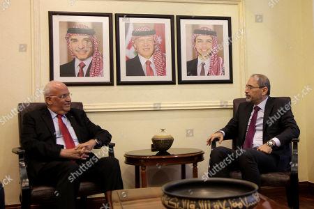 Stock Picture of Ayman Al Safadi and Saeb Erekat