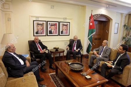 Ayman Al Safadi and Saeb Erekat