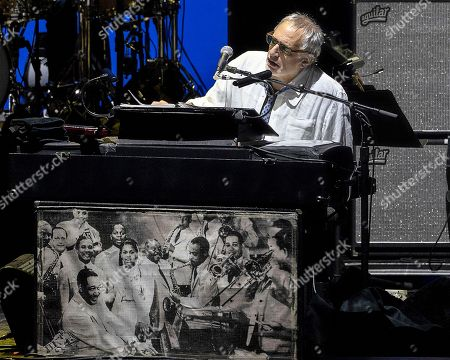 The American rock band Steely Dan with founding member keyboardist and lead vocalist Donald Fagen performs at the Xfinity Center, in Mansfield, Mass
