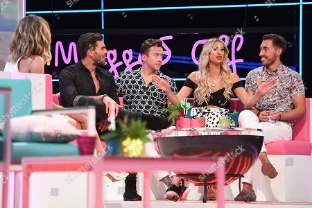 Caroline Flack, Adam Collard, Danny Jones, Ferne McCann and Ross Adams