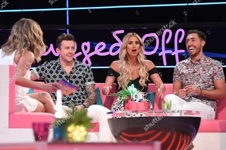 Caroline Flack, Danny Jones, Ferne McCann and Ross Adams