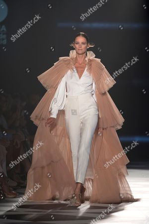 Stock Image of Carmen Kass on the catwalk