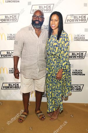Richelieu Dennis, Michelle Ebanks. Essence Communications Chairman Richelieu Dennis and President Michelle Ebanks are seen at the 15th Annual 365Black Awards during the Essence Music Festival on