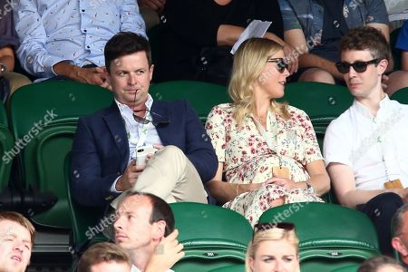 Declan Donnelly and Ali Astall on Centre Court