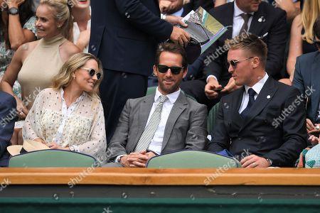 Georgie Thompson, Ben Ainslie and Jason Roy in the Royal Box