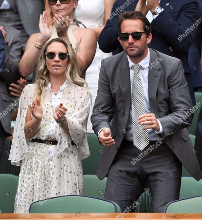 Georgie Thompson and Ben Ainslie in the Royal Box